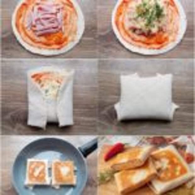 Тортилья с ветчиной и сыром.