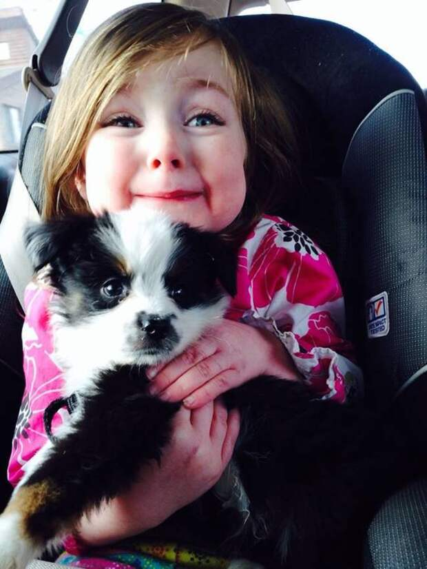 20 умилительных фотографий и гифок, доказывающих, что вашему ребёнку непременно нужен домашний питомец