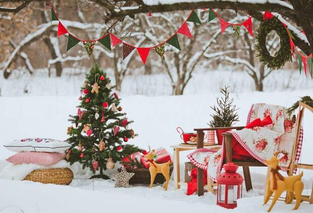 Вот как я украшу веранду к Новому году! 15 лучших идей для магического настроения.
