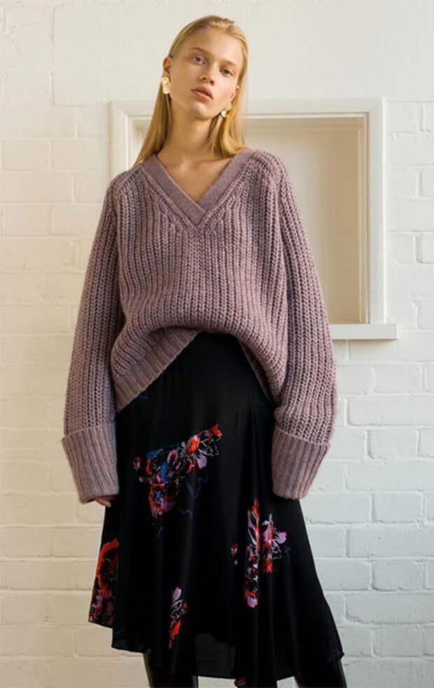 Объемные свитеры в 2018-2019