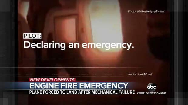 ABC News: американский военный авиарейс прервался из-за возгорания в двигателе