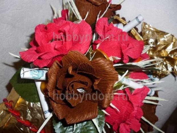 рог изобилия из конфет (3)