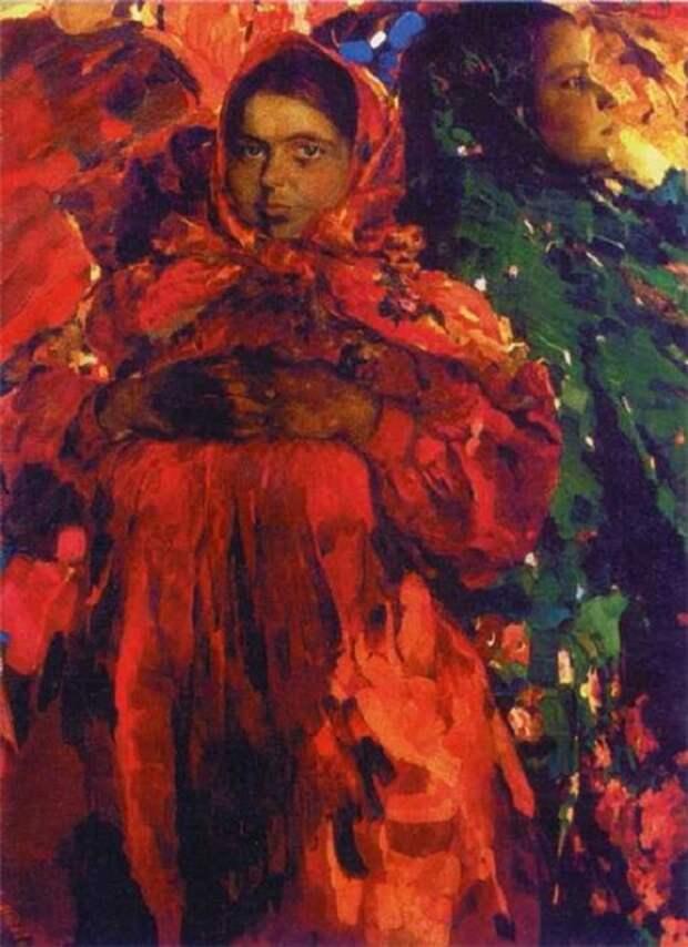 Две девки. (1910 год). Автор: Ф.Малявин.