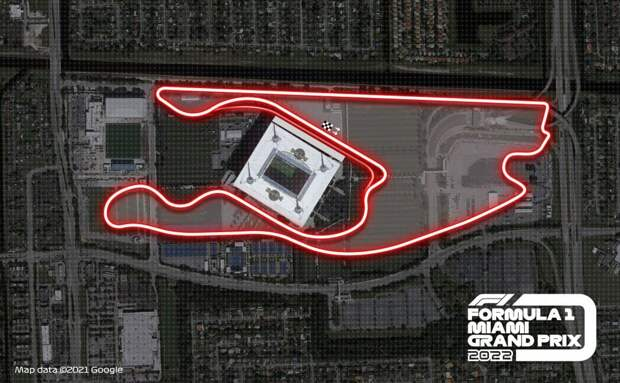 Первый виртуальный онборд с трассы Гран-при Майами