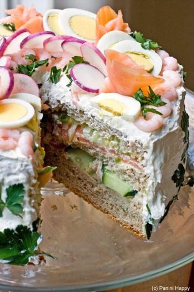 никто кроме шведов не догадался делать торт-сандвич)))внутри больше картинок с рецептами Smörgåstårt...