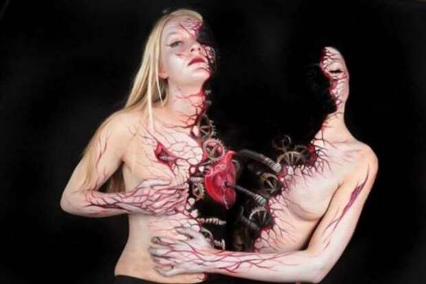 Вместо холста — человеческое тело