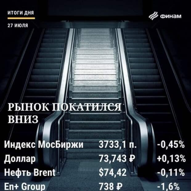 Итоги вторника, 27 июля: Рынок акций РФ потерял около 0,5% на общем негативе