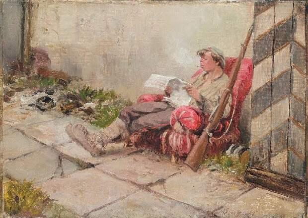 На посту. (1918). Автор: Иван Владимиров.