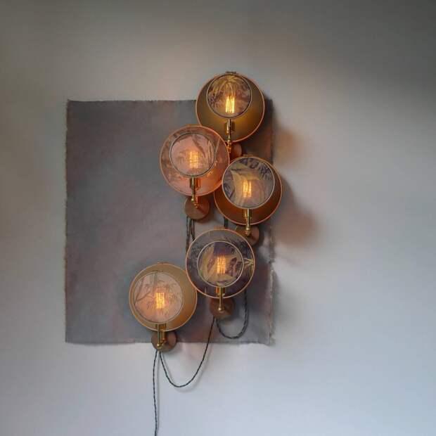 Стимпанк светильник из пялец