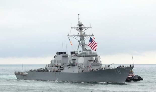 Наконец не учебная цель – Баранец об американском эсминце в водах Черного моря