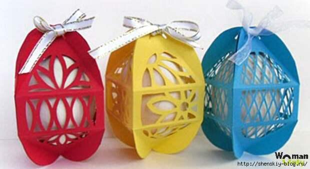 Коробочки для пасхальных яиц своими руками