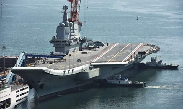 Китайский авианосец тестирует авиакрыло