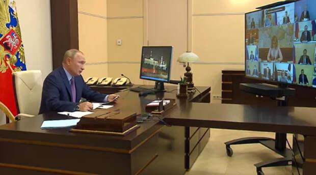 Глава Адыгеи принял участие в совещании президента РФ по санэпидобстановке