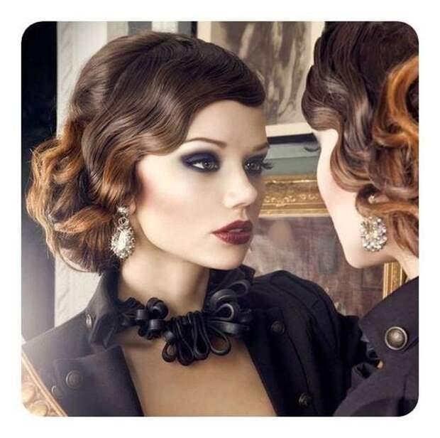 Стильные причёски в стиле ретро — голливудская волна