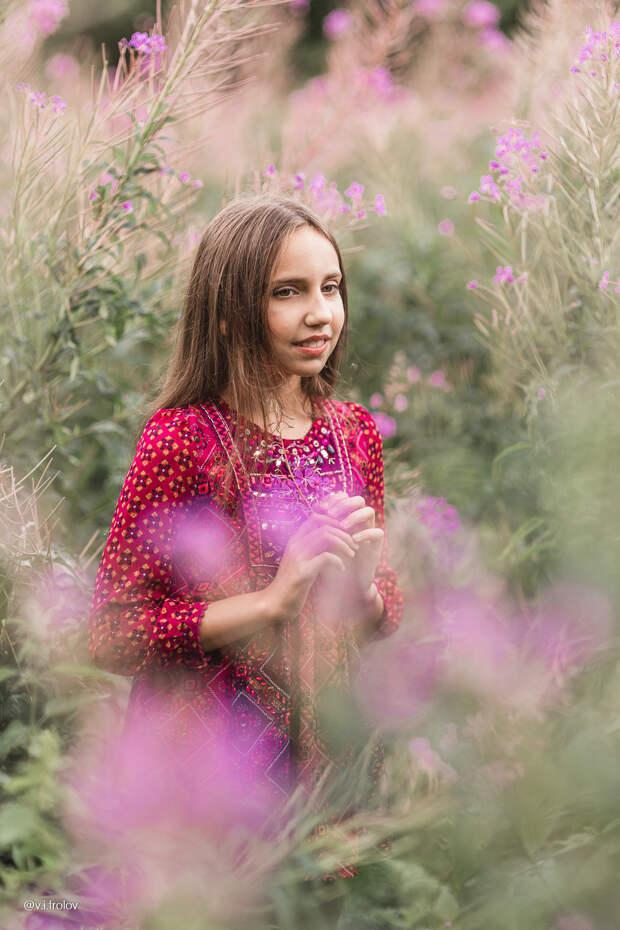 Детская фотосессия в иван-чае