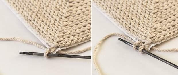 как связать коврик крючком