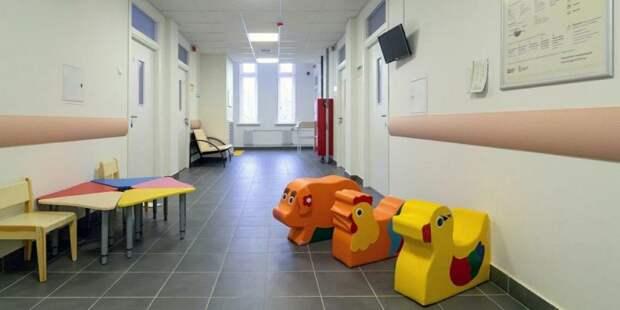 Собянин осмотрел готовящуюся к открытию детскую поликлинику в Марфине. Фото: mos.ru