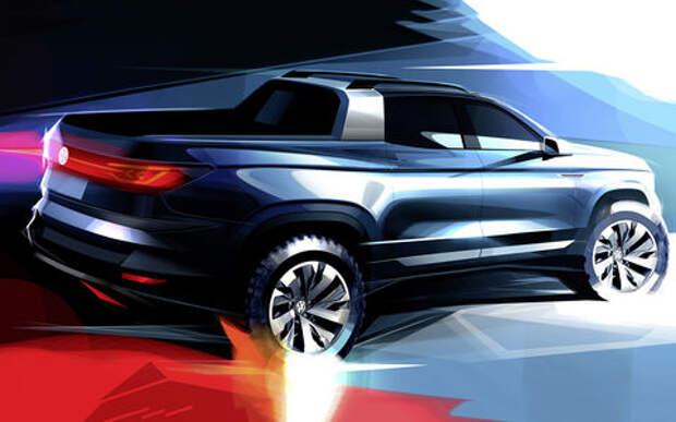Volkswagen превратил Tiguan в пикап
