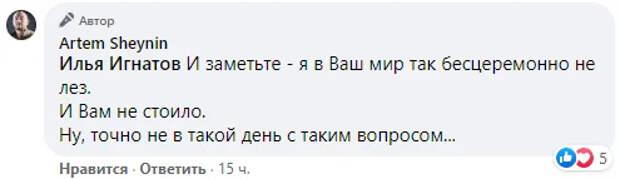 Шейнин восхитил подписчиков мастерским ответом на провокацию о российской армии