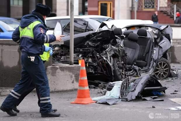 На Садовом кольце столкнулись пять автомобилей