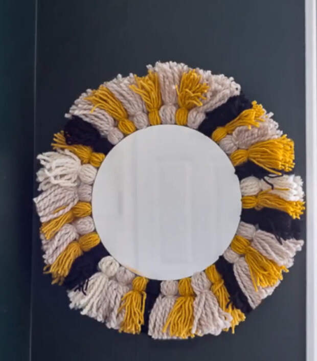 Превращаем старое зеркало в дизайнерскую вещь с помощью обычных ниток