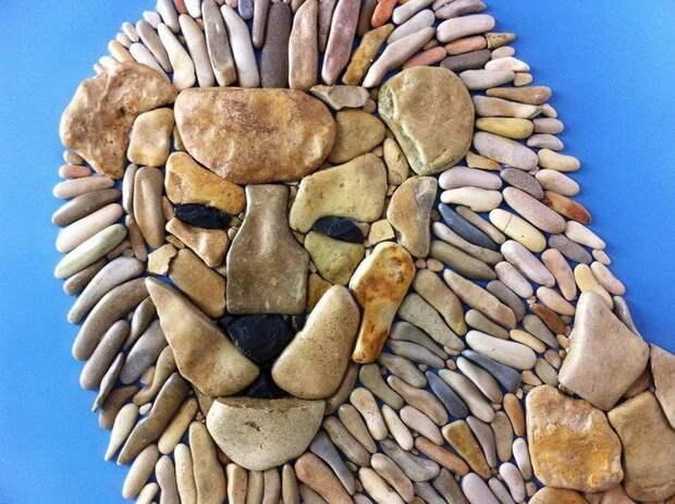 Креативные картинки из пляжных камней Стефано Фурлани