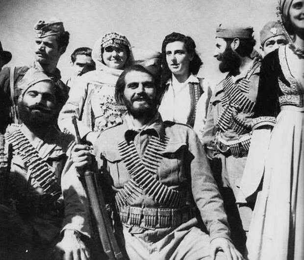 Греческие партизаны против гитлеровцев, британцев и их ставленников