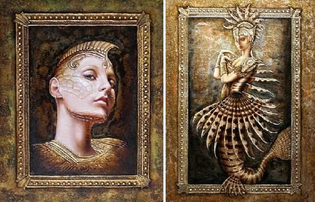 Художник из российской глубинки пишет неординарные картины, которые сложно отличить от чеканки