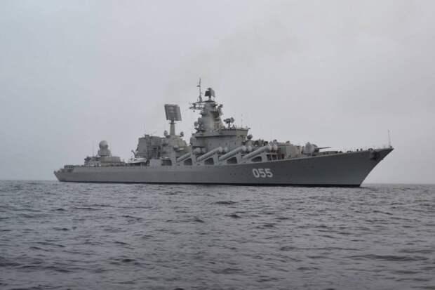 Крейсер РФ отработал удар по подлодкам из норвежского фьорда