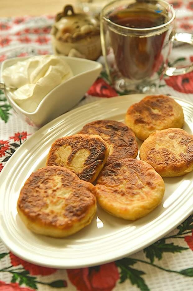 Украинская кухня. Сырники с фасолью