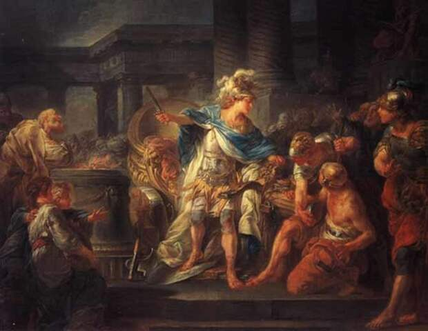 Жан-Симон Бертелеми «Александр перерубает гордиев узел»