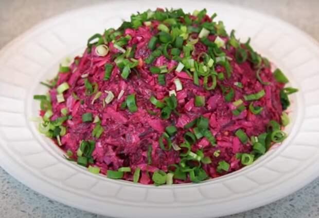 Очень вкусный салат со свеклой