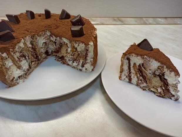 """Торт без выпечки """"Любимчик"""". Очень простой рецепт торта из печенья"""