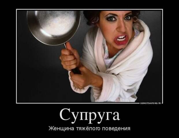 Демотиватор про жену (75 фото)