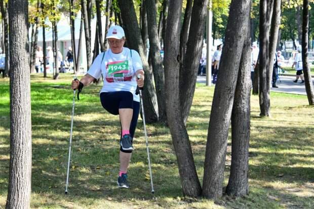На просторы Бабушкинского парка вышли пенсионеры-ходоки