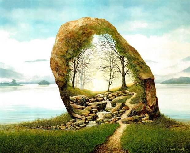 Rock Formation (46cm x 61cm)