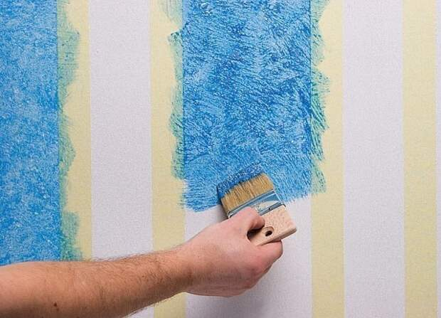 Как красить стены.