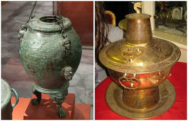 Первые самовары появились еще в Древнем Риме (аутепсы) и Древнем Китае (хого)