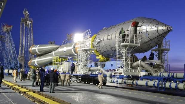 Запущенная с Байконура ракета «Союз» вывела на орбиту 34 британских спутника