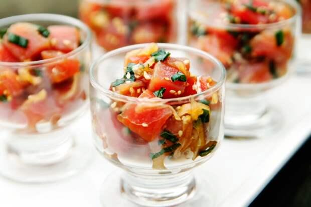 Рецепт. Гавайский салат с тунцом