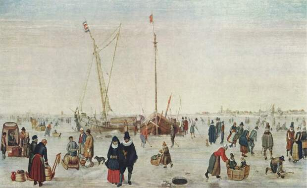 Ледовый пейзаж, 1611 год.