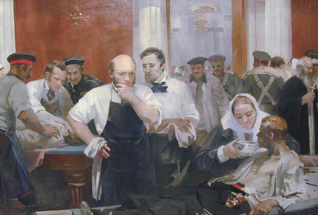 М.П. Труфанова Н.И. Пирогов на Главном перевязочном пункте в зале Дворянского собрания