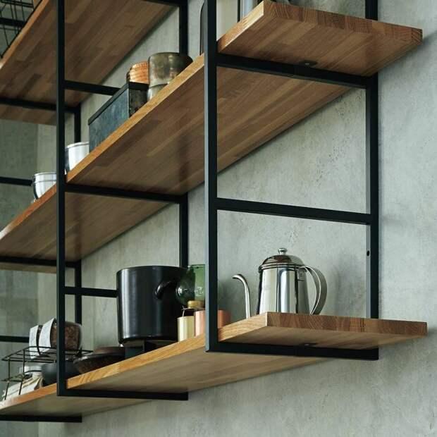 Красивые полки на металлической основе. /Фото: i.pinimg.com