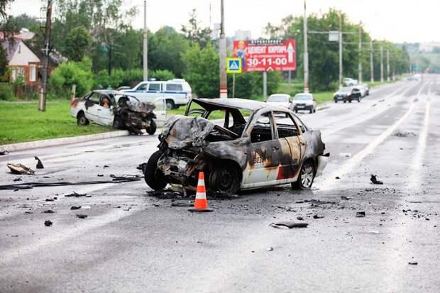 Трагическое ДТП произошло в Саранске, в результате которого заживо сгорели 6 человек