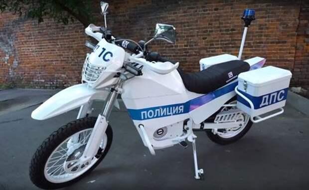 «Калашников» показал полицейский электромотоцикл Иж