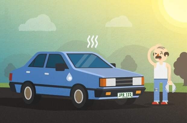 Вот как быстро охладить автомобиль нагретый на стоянке в теплый день
