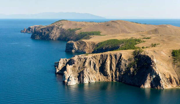 Как выглядит Байкал с вертолета