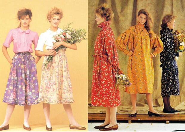 Платья с флоральными мотивами.