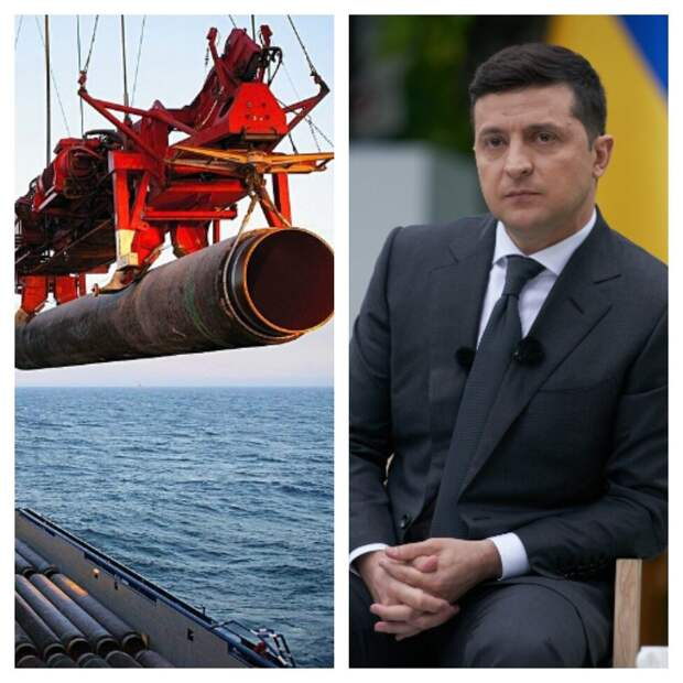 "Трубоукладчик ""Фортуна"" и Владимир Зеленский / Мой коллаж"
