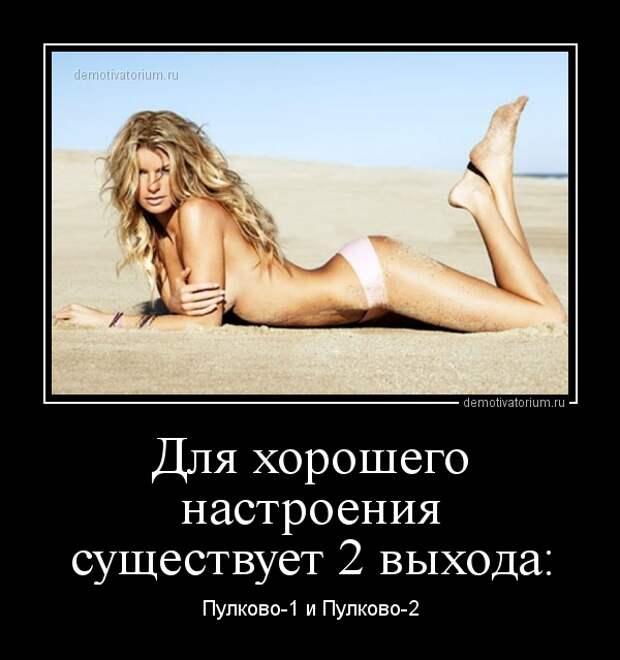 Демотиватор Для хорошего настроения существует 2 выхода: Пулково-1 ...